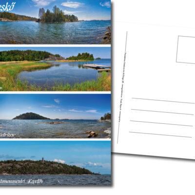 Vykort, Panorama, Bruket, Stora Ballriken, Älvsnabbsmonumentet, Mickrum