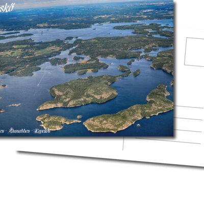 Vykort, Fårfjärden, Älvsnabben, Kapellön