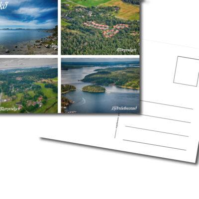 Vykort, Bruket, Altorpsvägen, Bredäng, Skarpavägen, Björnholmssund
