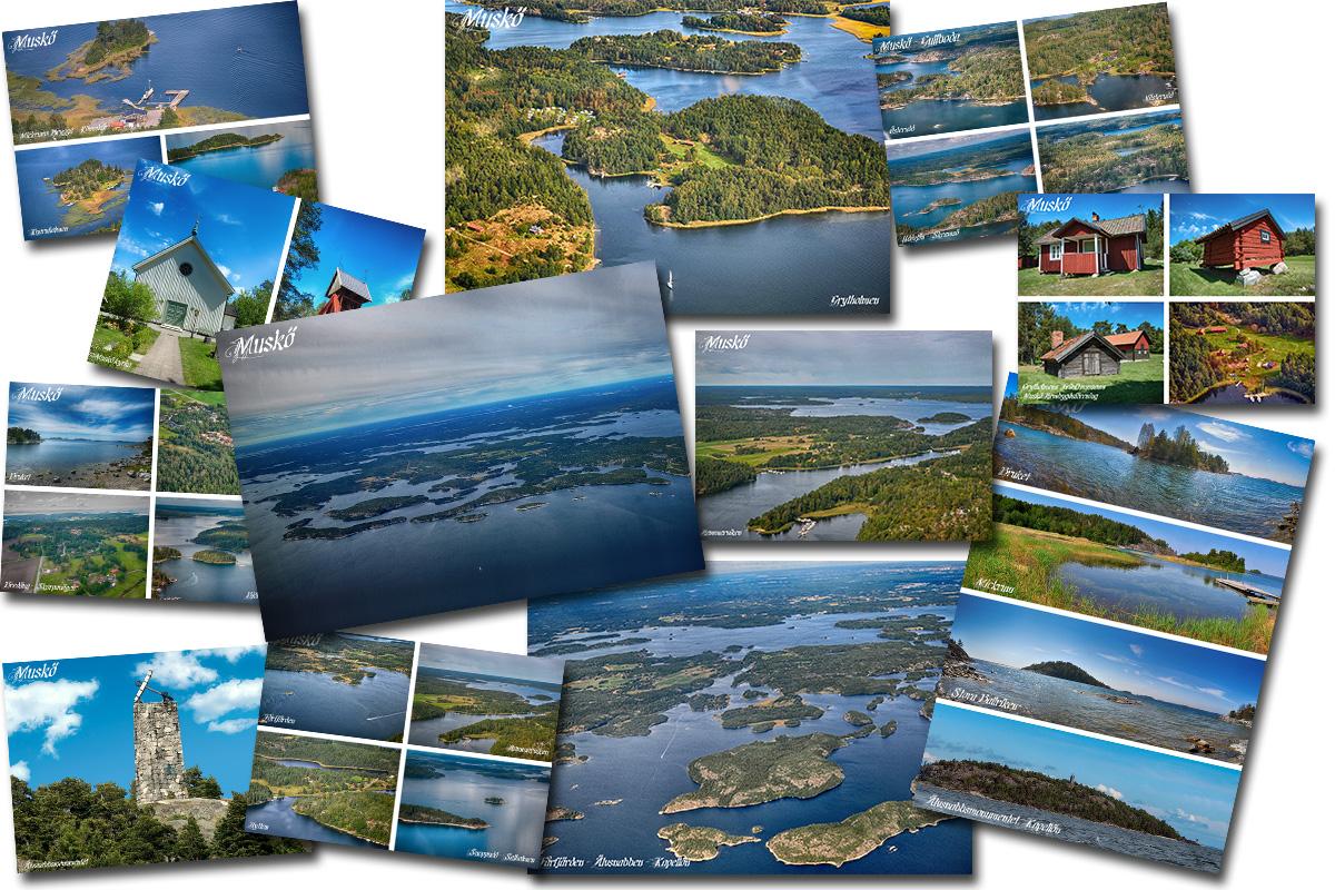 Alla Muskö-vykort