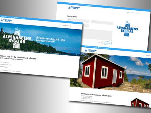 Älvsnabbens Bygg AB – Logotype, hemsida, fotografering med mera