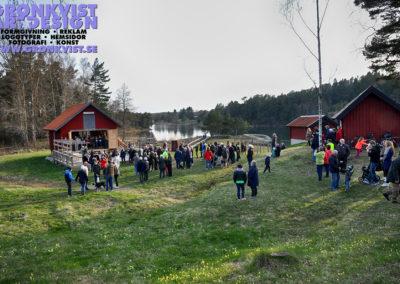 Runt 300 personer samlades på Grytholmens friluftsmuseum för att fira in våren. Foto: Bengt Grönkvist