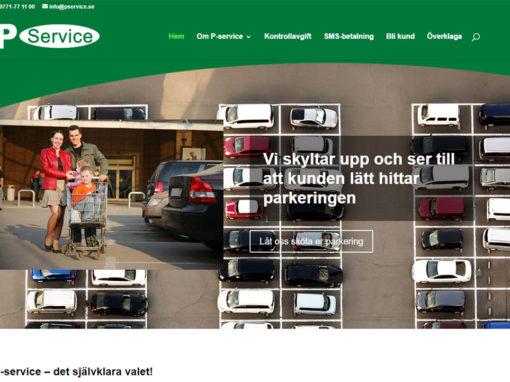 P-service AB – Hemsida, uppdateringstjänster