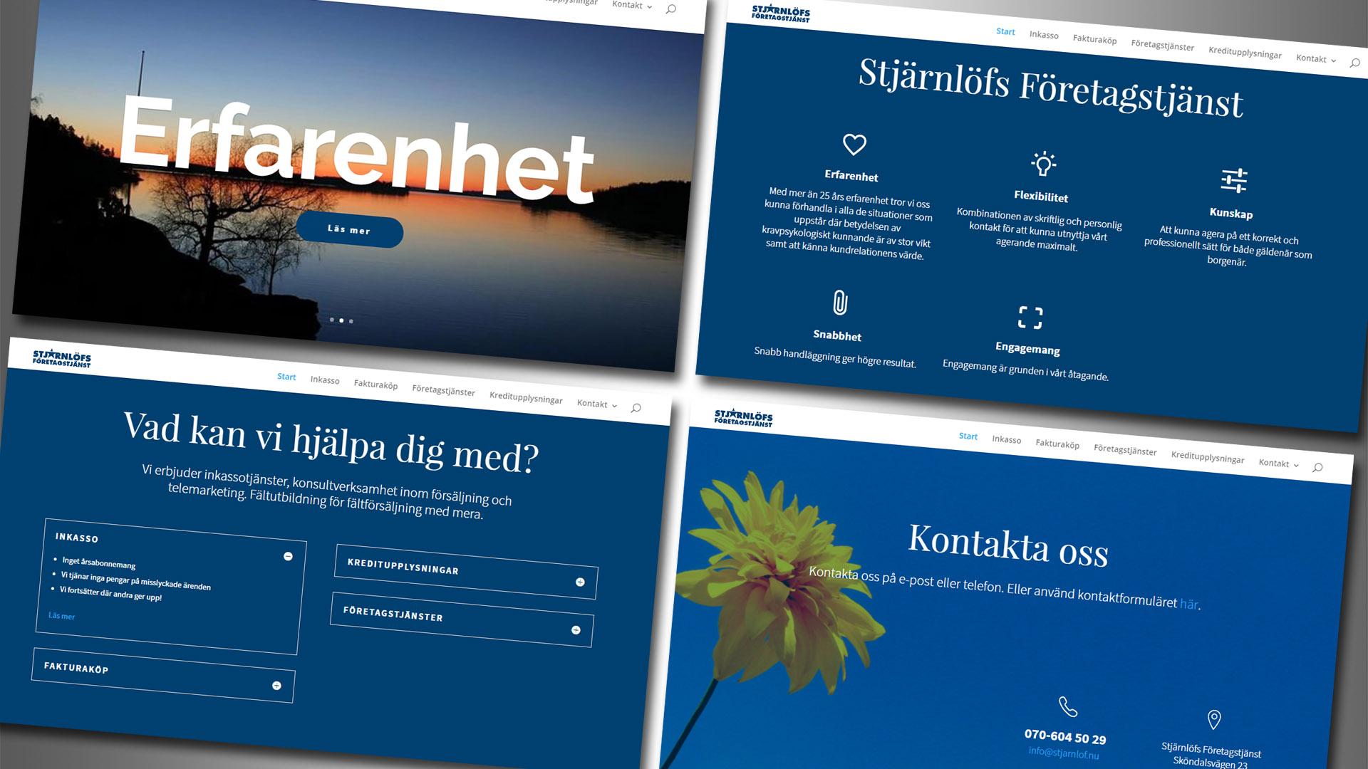Stjärnlöfs Företagstjänst - hemsida